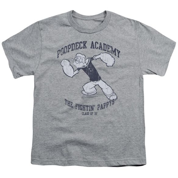 Popeye Poopdeck Academy Short Sleeve Youth Athletic T-Shirt