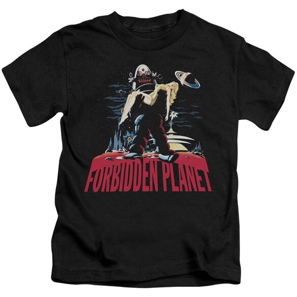 Forbidden Planet Robby And Woman Short Sleeve Juvenile T-Shirt