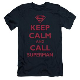 SUPERMAN CALL SUPERMAN - S/S ADULT 30/1 - NAVY T-Shirt