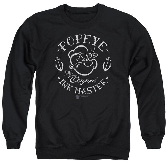 Popeye Ink Master - Adult Crewneck Sweatshirt - Black