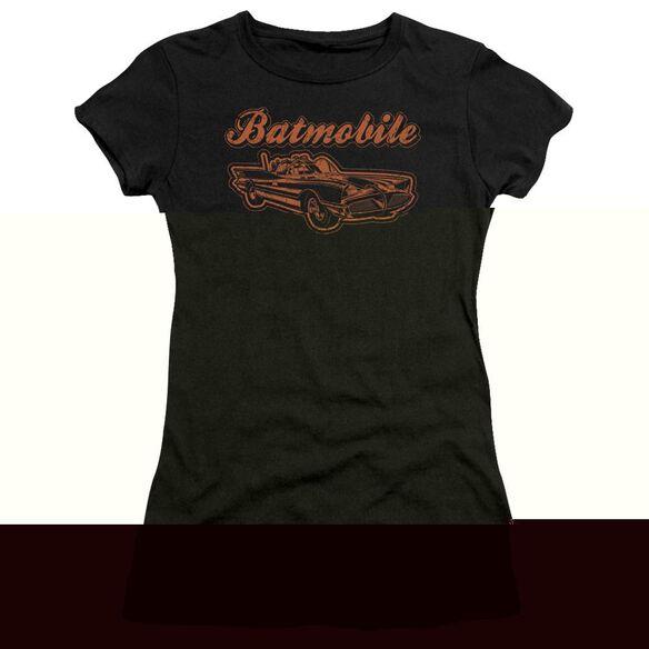 BATMAN BATMOBILE - S/S JUNIOR SHEER - BLACK T-Shirt