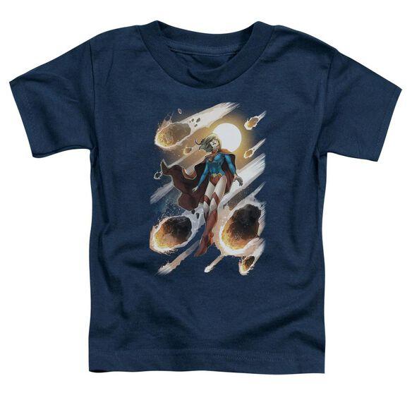 Jla Supergirl #1 Short Sleeve Toddler Tee Navy Lg T-Shirt