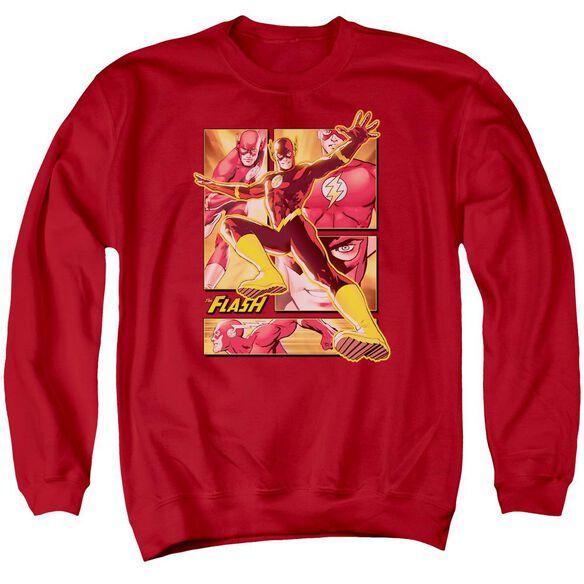 Jla Flash Adult Crewneck Sweatshirt