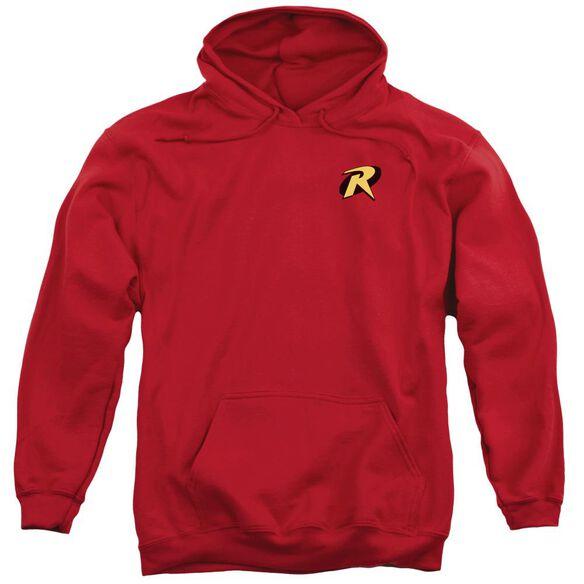 Batman Robin Logo Adult Pull Over Hoodie