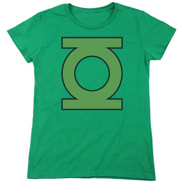 Dc Gl Emblem Short Sleeve Womens Tee Kelly T-Shirt