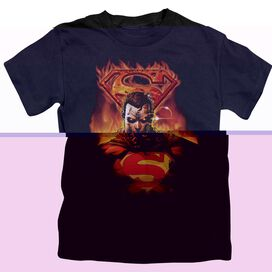 SUPERMAN MAN ON FIRE - S/S JUVENILE 18/1 - BLACK - T-Shirt