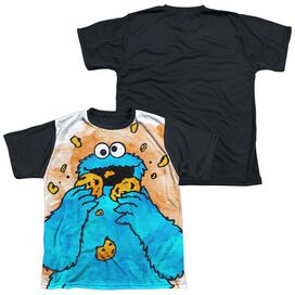 Sesame Street Cookie Crumbs Short Sleeve Youth Front Black Back T-Shirt