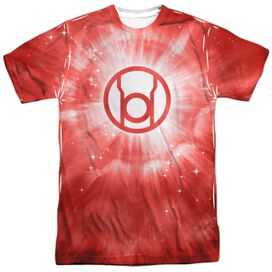 GREEN LANTERN RED ENERGY - S/S ADULT 100% POLY CREW - WHITE T-Shirt