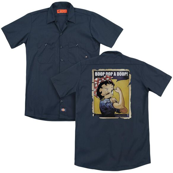 Betty Boop Power (Back Print) Adult Work Shirt