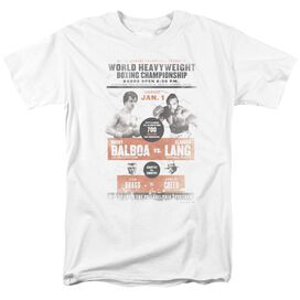 ROCKY III VS CLUBBER POSTER-S/S ADULT 18/1 - WHITE T-Shirt