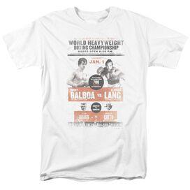 Rocky Iii Vs Clubber Poster Short Sleeve Adult T-Shirt