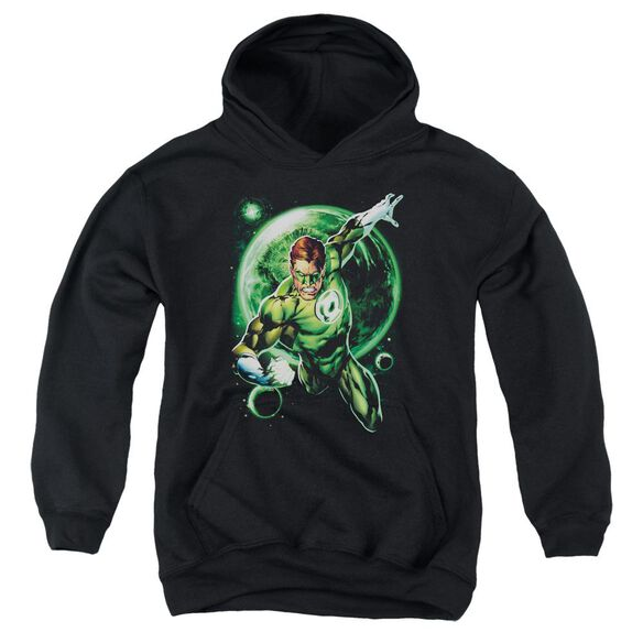 Green Lantern Galaxy Glow Youth Pull Over Hoodie