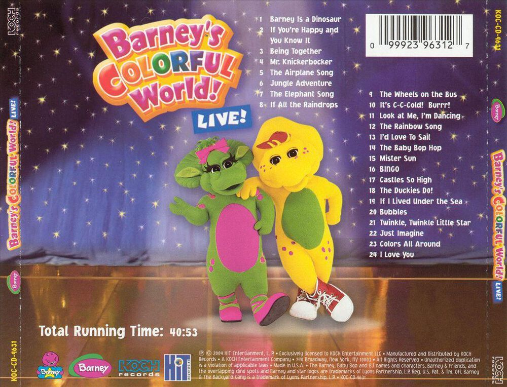 Barney\'s Colorful World! Live! by Barney - Used on CD | FYE