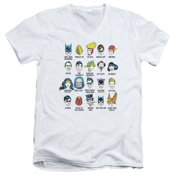 Dc Superhero Issues Short Sleeve Adult V Neck T-Shirt