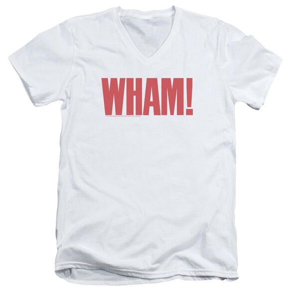 Wham Logo Short Sleeve Adult V Neck T-Shirt
