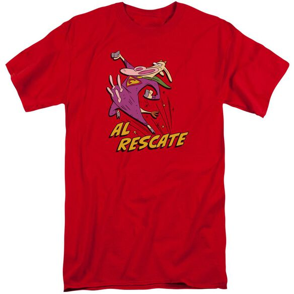 Cow And Chicken Al Rescate Short Sleeve Adult Tall T-Shirt