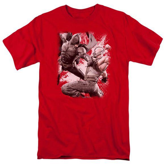 Dark Knight Rises Final Fight Short Sleeve Adult Red T-Shirt