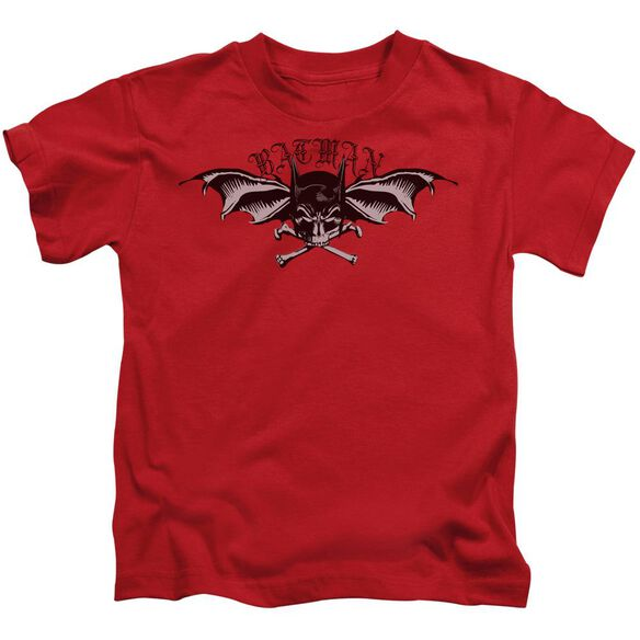 Batman Wings Of Wrath Short Sleeve Juvenile Red T-Shirt