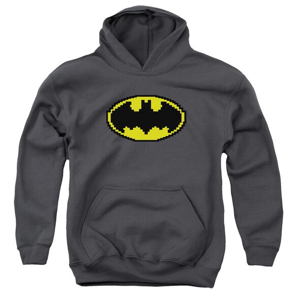 Batman Pixel Symbol Youth Pull Over Hoodie