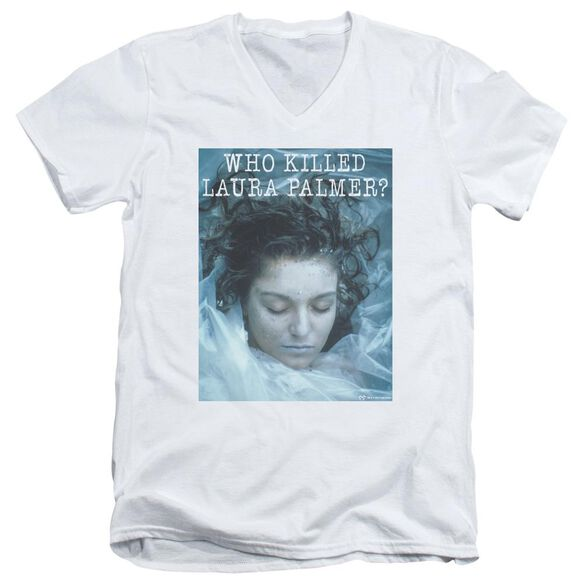 Twin Peaks Who Killed Laura Short Sleeve Adult V Neck T-Shirt