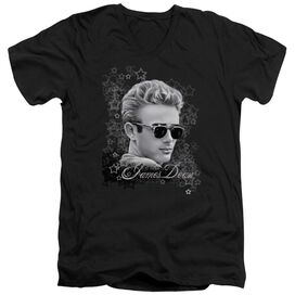 Dean Movie Star Short Sleeve Adult V Neck T-Shirt