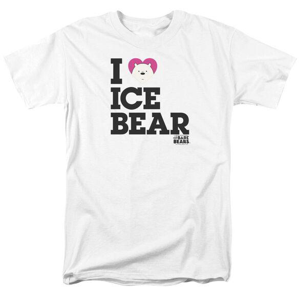 We Bare Bears Heart Ice Bear Short Sleeve Adult T-Shirt