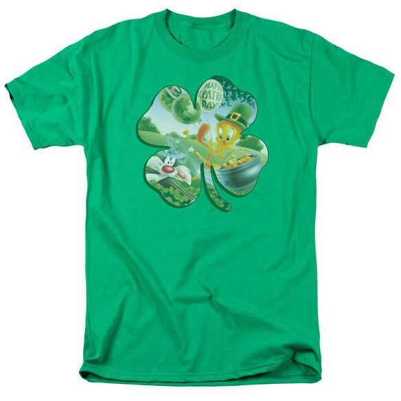 Looney Tunes Tweety Shamrock Short Sleeve Adult Kelly T-Shirt