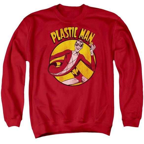 Dc Plastic Man Adult Crewneck Sweatshirt