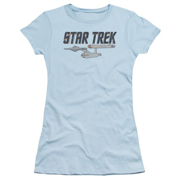 Star Trek Entreprise Logo Short Sleeve Junior Sheer Light T-Shirt