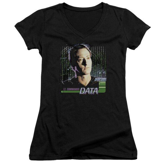 Star Trek Data Junior V Neck T-Shirt