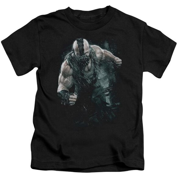Dark Knight Rises Bane Rain Short Sleeve Juvenile Black Md T-Shirt