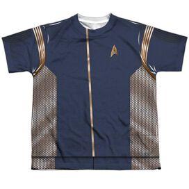 Star Trek Discovery Command Uniform Short Sleeve Youth Poly Crew T-Shirt