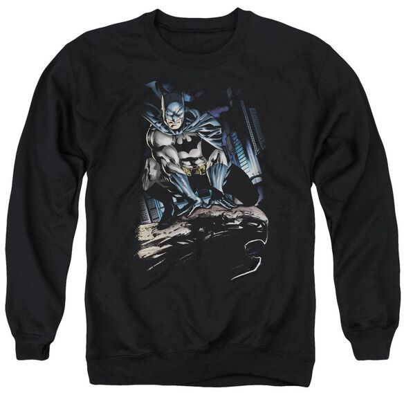 Batman Perched Adult Crewneck Sweatshirt