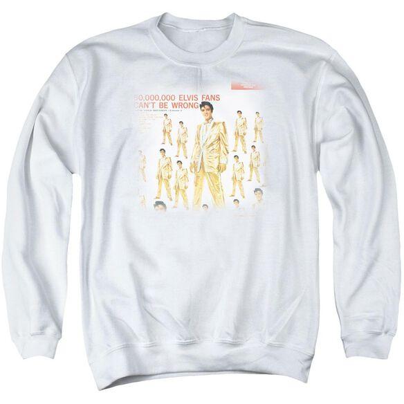 Elvis 50 Million Fans Adult Crewneck Sweatshirt