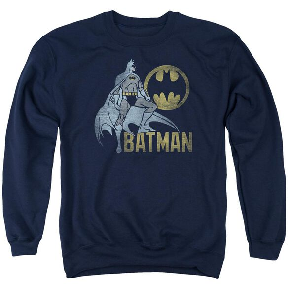 Batman Knight Watch - Adult Crewneck Sweatshirt - Navy
