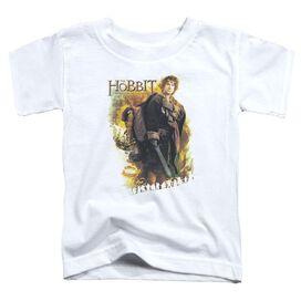Hobbit Bilbo Short Sleeve Toddler Tee White T-Shirt