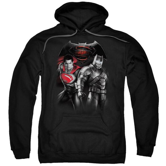 Batman V Superman Stand Off Adult Pull Over Hoodie