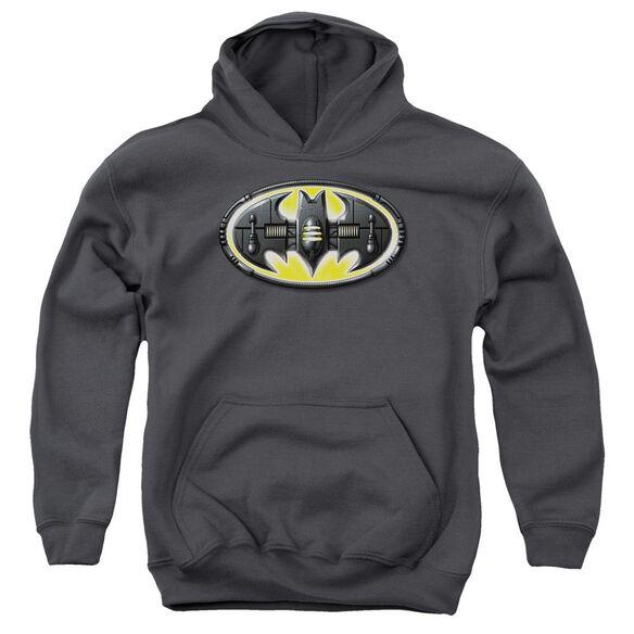 Batman Bat Mech Logo Youth Pull Over Hoodie
