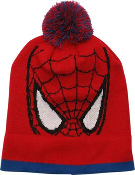 Spiderman Mask Cuff Pom Beanie