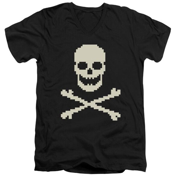 8 Bit Roger Short Sleeve Adult V Neck T-Shirt