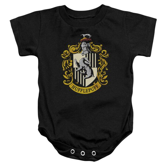 Harry Potter Hufflepuff Crest Infant Snapsuit Black
