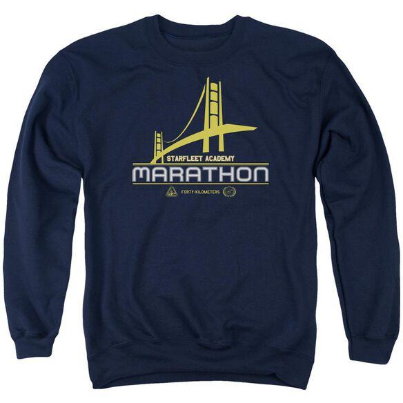 Star Trek Marathon Logo Adult Crewneck Sweatshirt