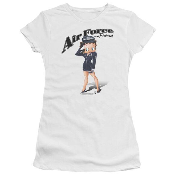 Betty Boop Air Force Boop Short Sleeve Junior Sheer T-Shirt