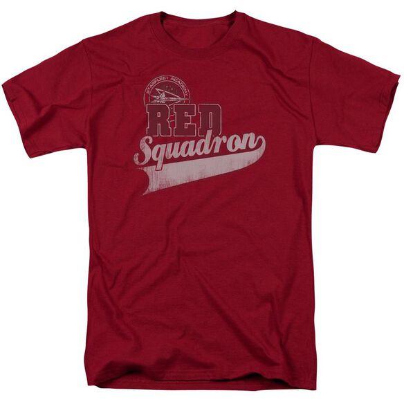 Star Trek Red Squadron Sport Short Sleeve Adult Cardinal T-Shirt