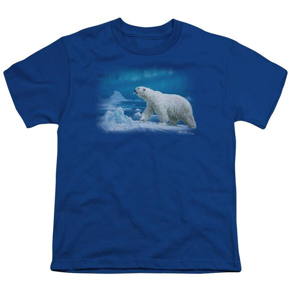 Wildlife Nomad Of The North Short Sleeve Youth Royal T-Shirt