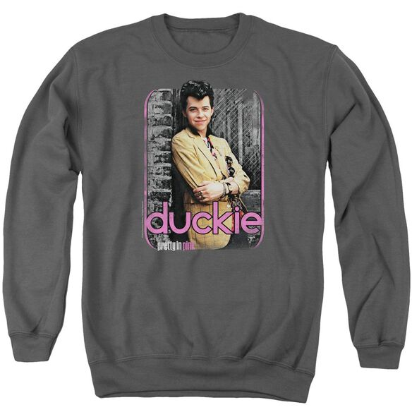 Pretty In Pink Just Duckie Adult Crewneck Sweatshirt