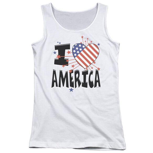 I Heart America Juniors Tank Top