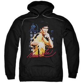 Bruce Lee Yellow Jumpsuit Adult Pull Over Hoodie