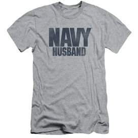 Navy Husband Short Sleeve Adult Athletic T-Shirt
