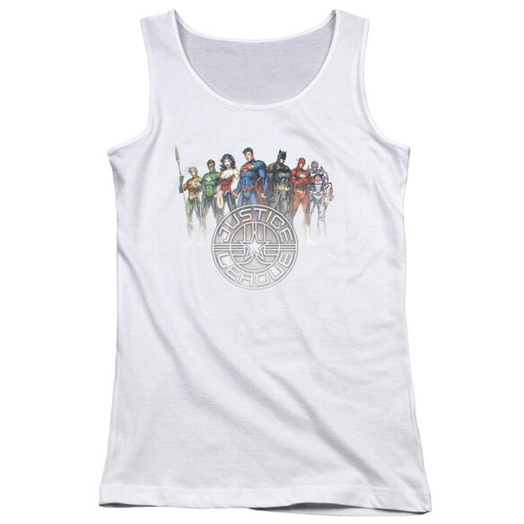 Jla Circle Crest Juniors Tank Top